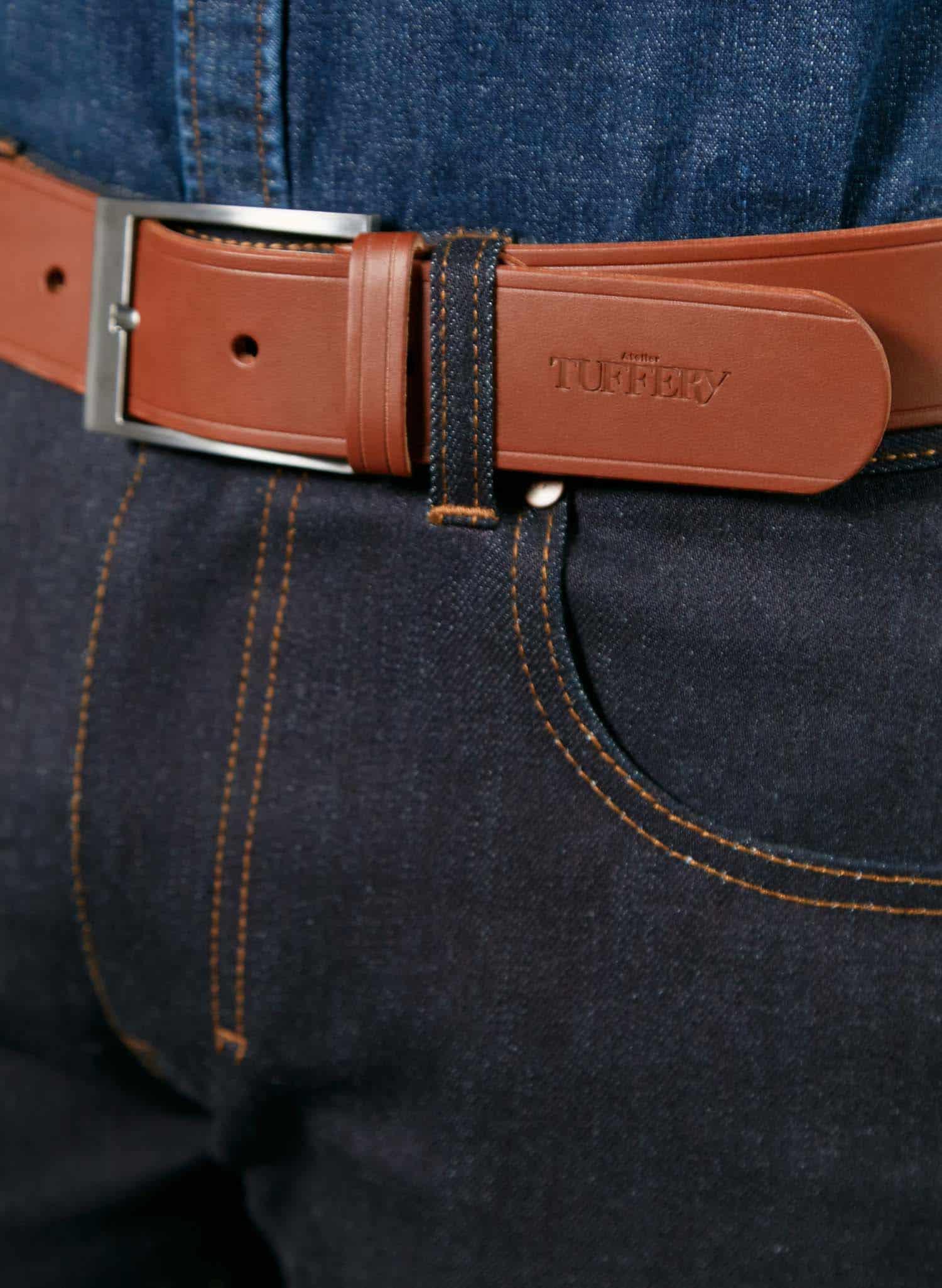 atelier tuffery ceinture homme cuir marron 2