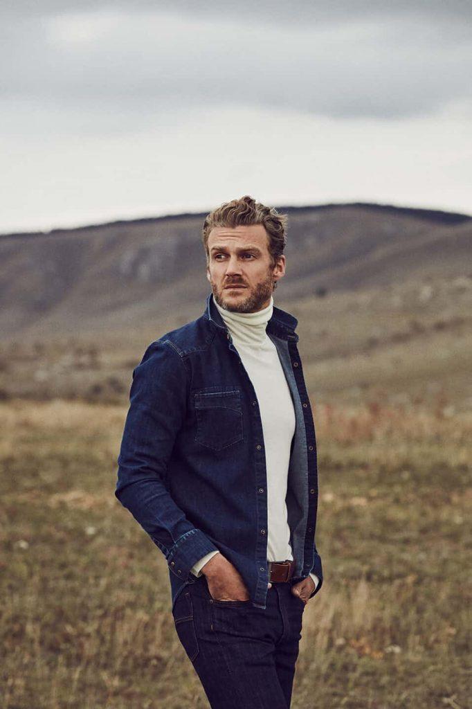 La chemise made in France Cévennes en jean denim western pour homme