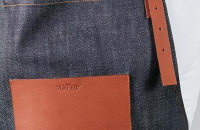 Tablier en jean français long originel