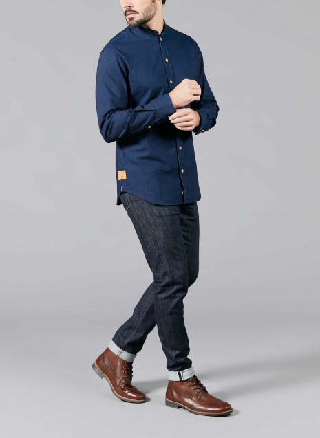 Causses man shirt in raw jean