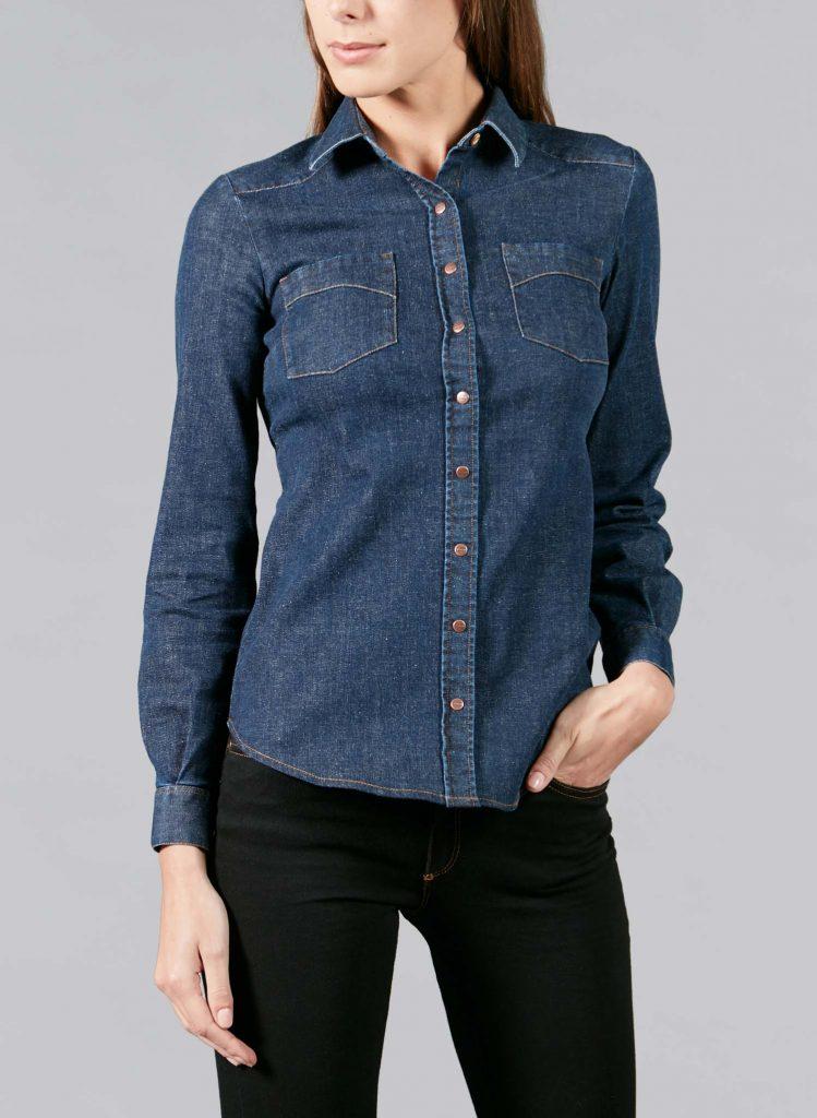 Chemise femme Cévennes en jean français brut
