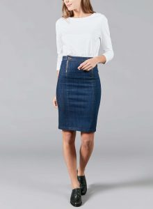 organic french jean raw skirt agathe