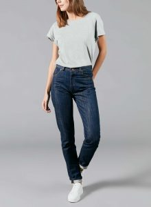 organic french jean for woman raw