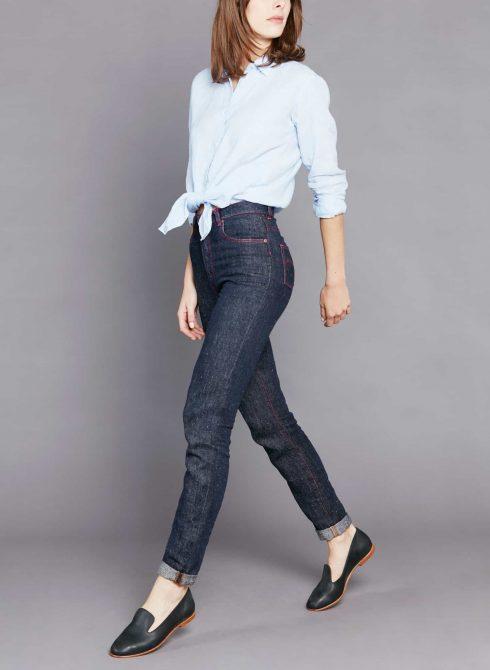 Pantalon jean en chanvre pour femme Marthe