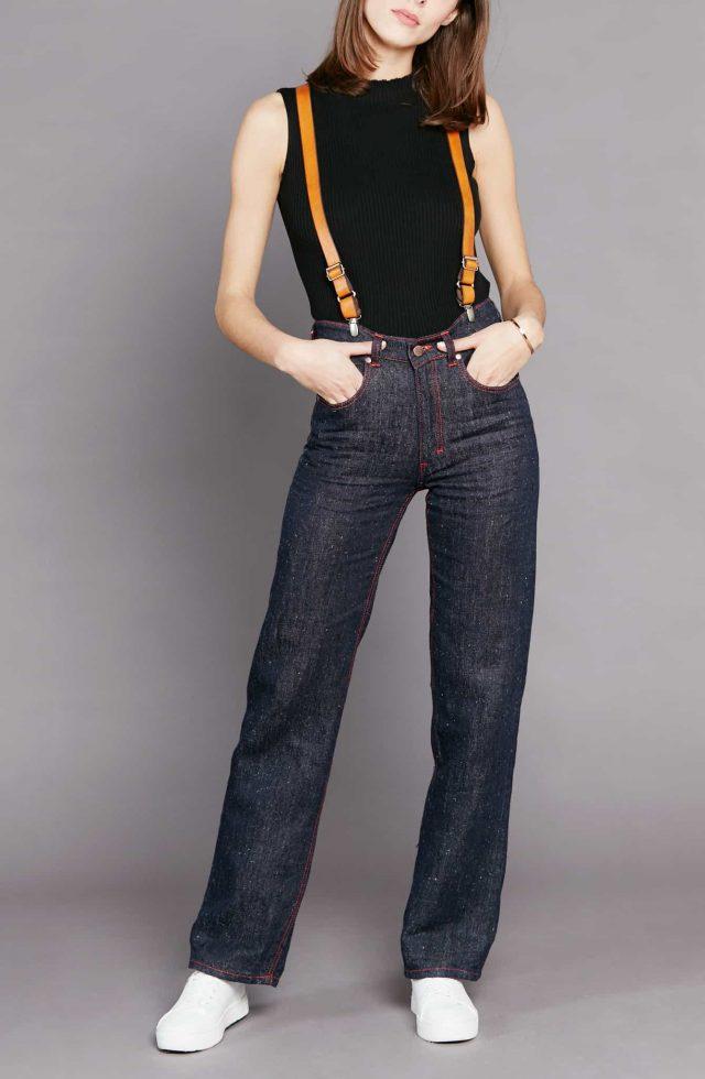 Pantalon jean en chanvre pour femme Désiré