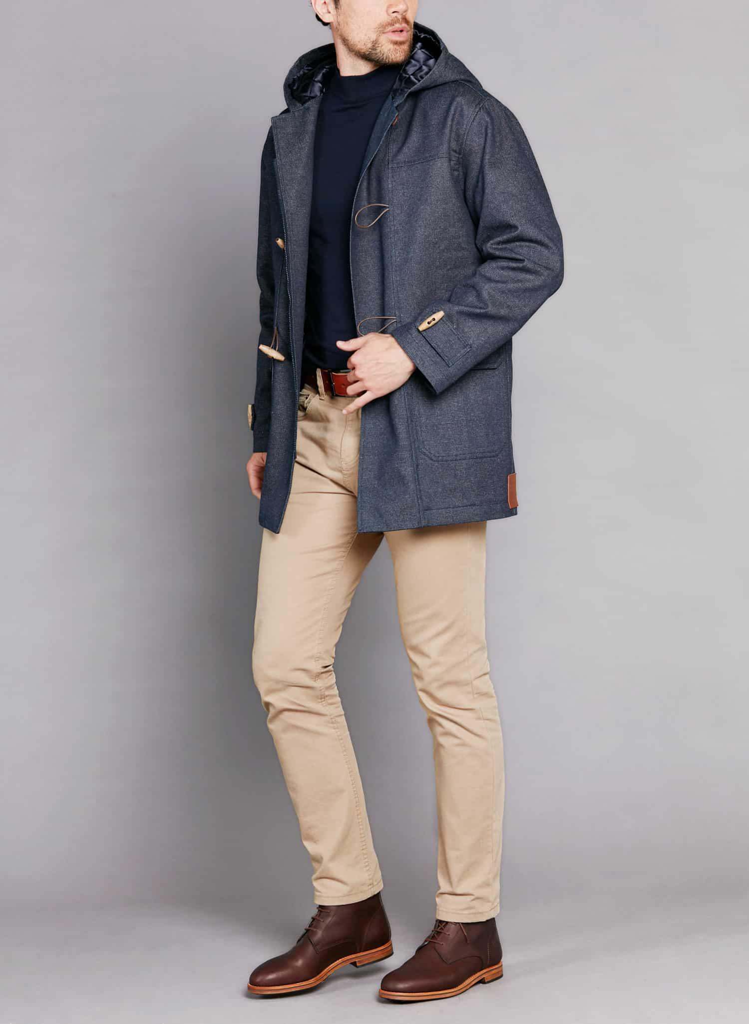 atelier tuffery veste duffle coat manteau denim jean femme homme laine locale francais - Atelier TUFFERY