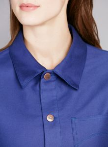 atelier tuffery veste peintre jean-femme moleskine bleu travail