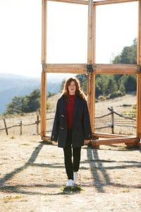 Dufflecoat Aigoual femme brut laine et pantalon jean femme Augusta noir - Lookbook #2