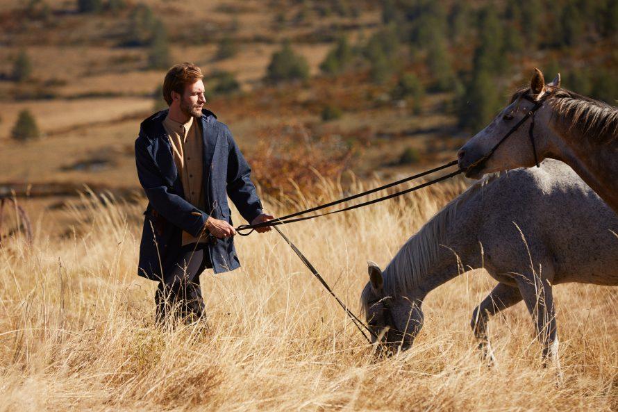 Dufflecoat Aigoual homme brut laine et pantalon jean homme Alphonse noir - Lookbook #2