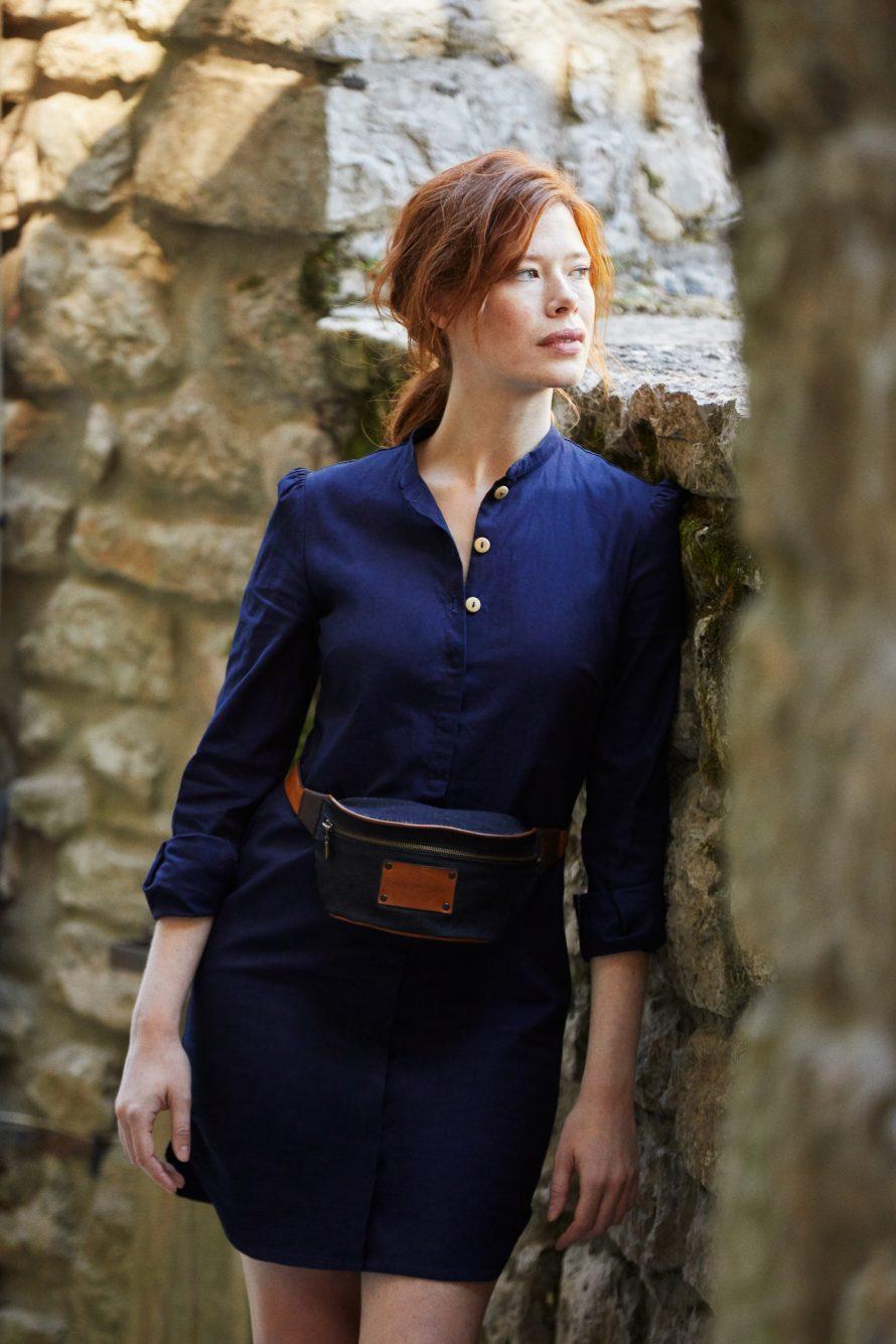 Jeans francais éthique et ecoresponsable en Cévennes, tunique robe femme artisan - Lookbook #2 - Atelier TUFFERY