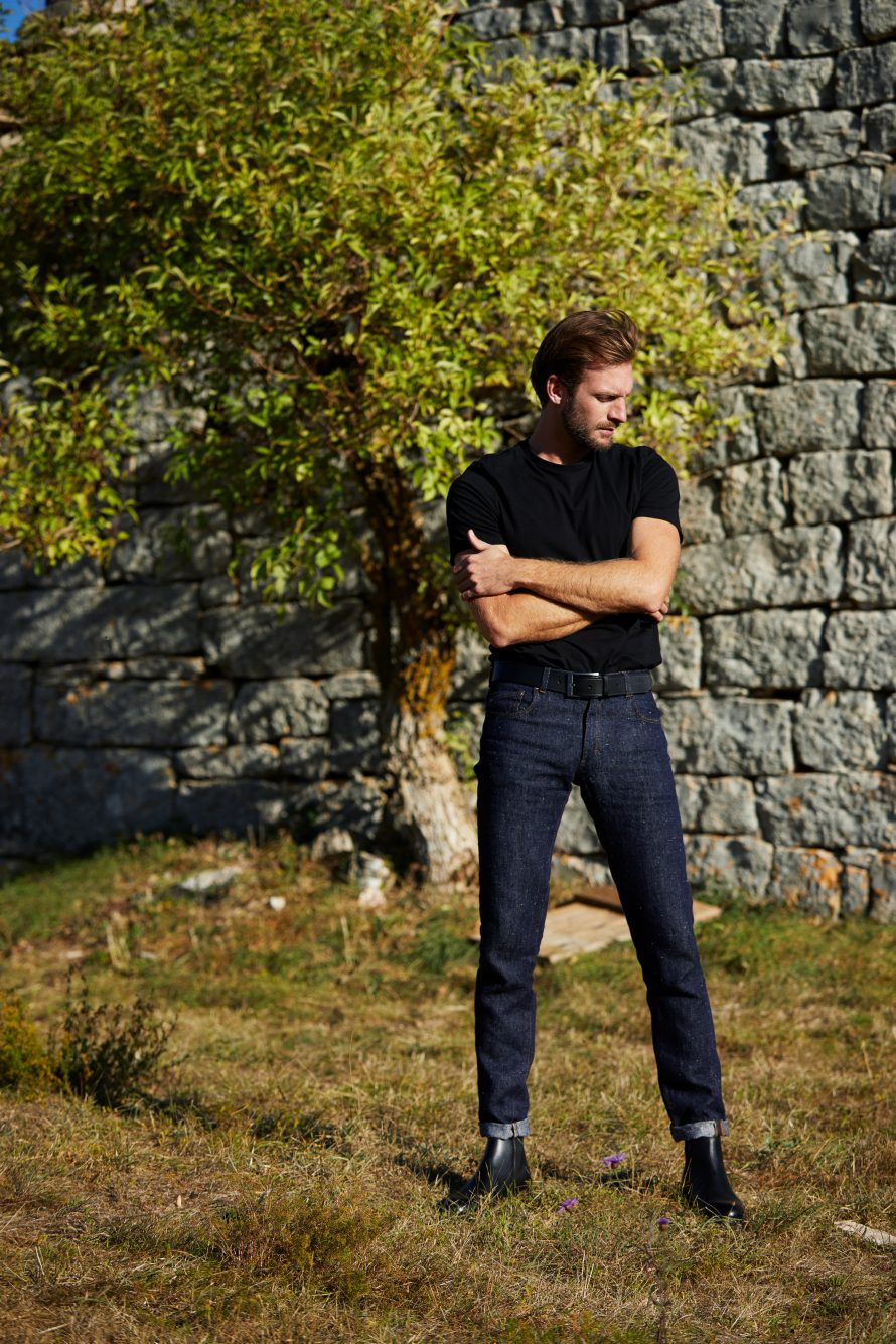 Pantalon jean homme Alphonse brut chanvre - Lookbook #2 - Atelier TUFFERY