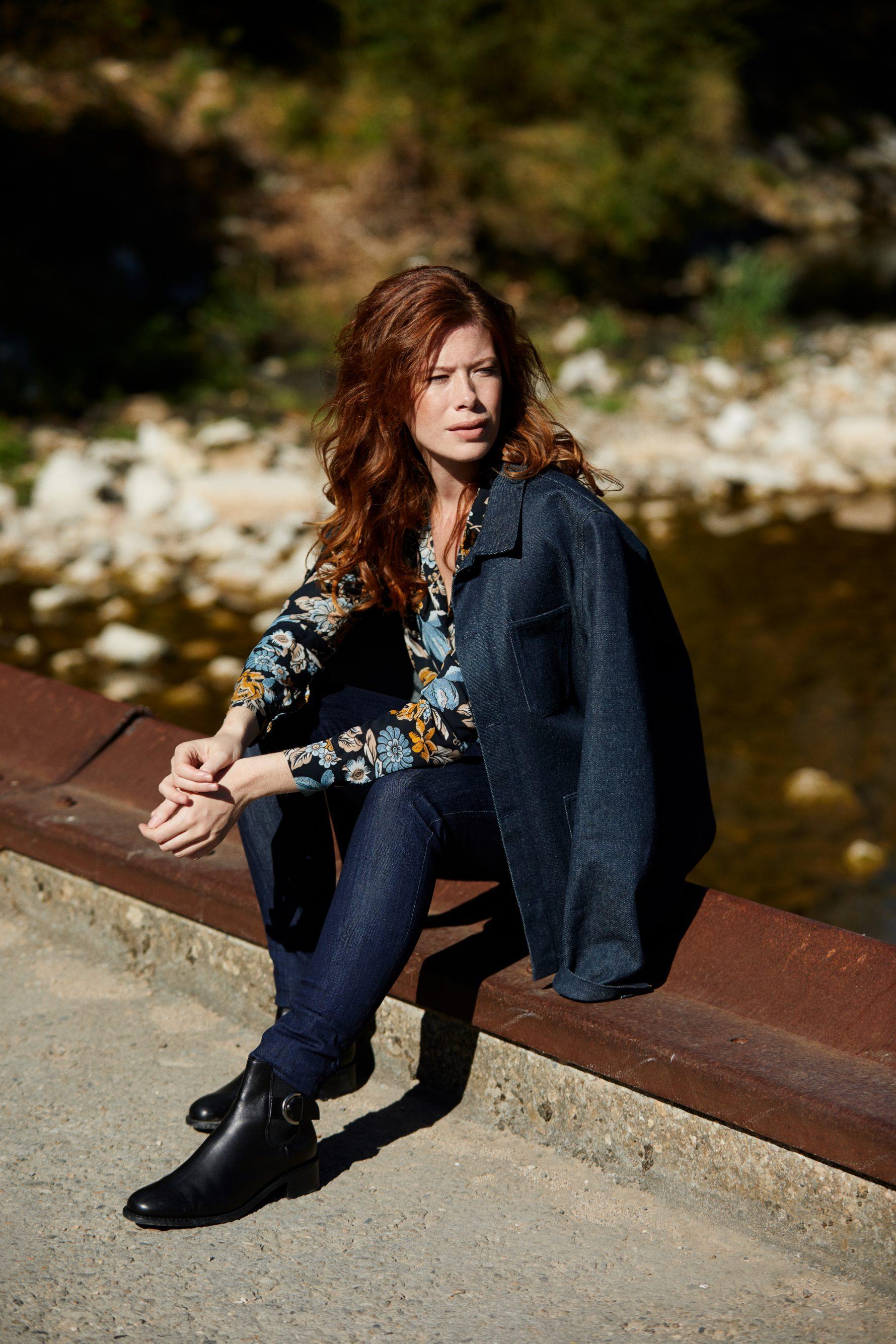 Veste Méjean femme brut laine et pantalon jean femme Marianne brut bio