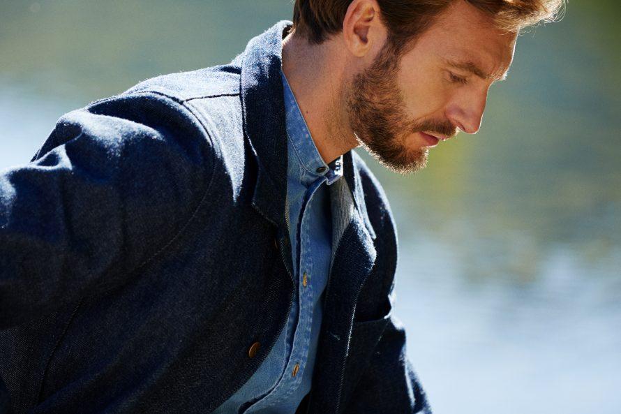 Veste Méjean homme brut laine et chemise homme Causses clair