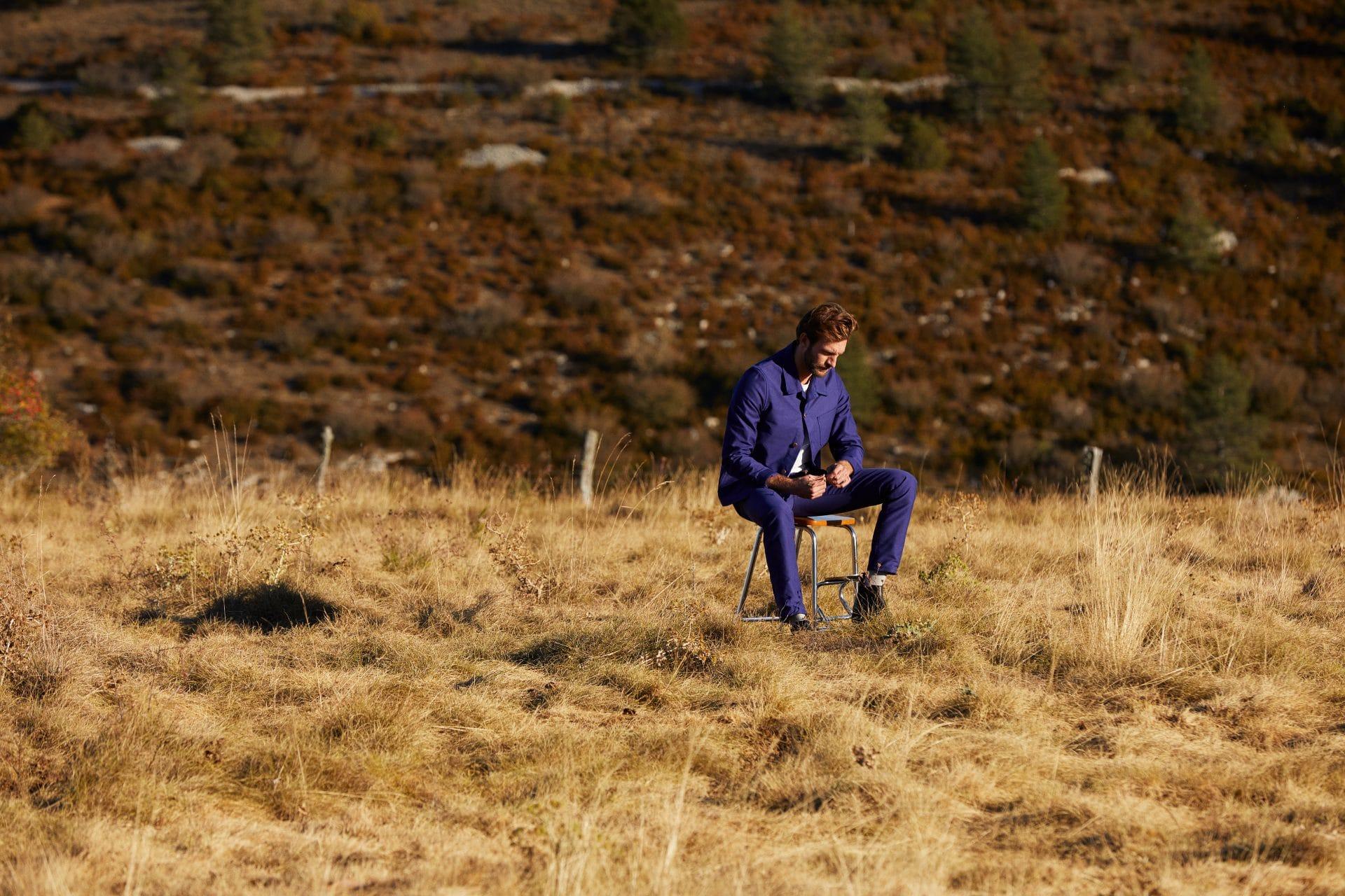 Veste Méjean homme Moleskine et pantalon jean homme Alphonse Moleskine - Lookbook #2
