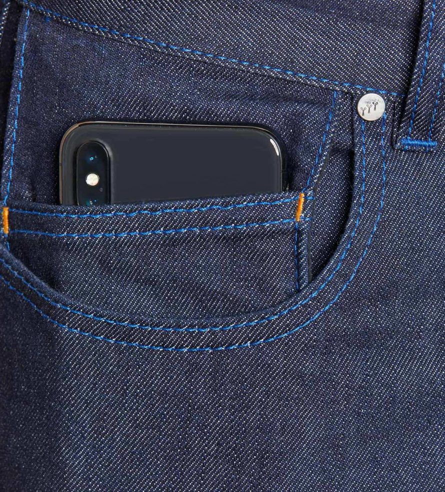 atelier tuffery alpine jean homme brut denim innovation poche smartphone