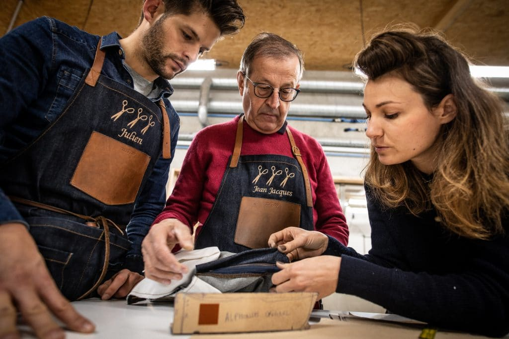 atelier tuffery équipe humain couturier confectionneur